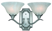 Dover 2 Light Wall Sconce, Satin Nickel