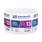 "R13 3-1/2"" X 15"" Kraft Faced Fiberglass Roll Insulation"