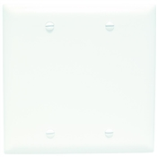 White Nylon 2 Gang Blank Center Plate