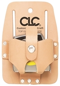 Custom Leathercraft 464 Tape Rule Holder, For Use With 16 - 30 Ft Measuring Tapes, Top Grain Leather, Tan