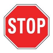 HY-KO HW-31 Traffic Sign, Stop, White Legend