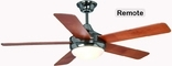 "Riverchase 52"" Ceiling Fan, Dual Mount, W/ Light Kit And Remote Control, Satin Nickel Finish"