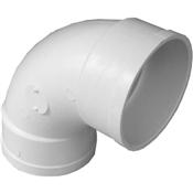 "3"" Styrene S&D 90 Sanitary Elbow (Hub x Hub)"