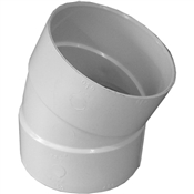 "4"" PVC S&D 22-1/2 Elbow (HubxHub)"