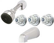 3 Handle Tub & Shower Faucet, Chrome