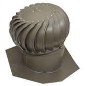 Ventilation Turbine, Internal Brace Aluminum, Weather Wood Finish, 12-In.