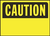 SIGN OSHA CAUTION BLANK10X14IN