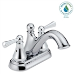 Haywood 2 Handle Centerset Bathroom Faucet, Stainless