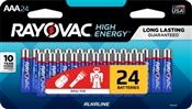 Rayovac 824-24LTK AAA Batteries, 24 Pack