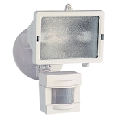 150W Halogen Flood Light w/Motion 110Deg WHT