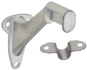 Handrail Bracket, Satin Chrome, 2 Piece
