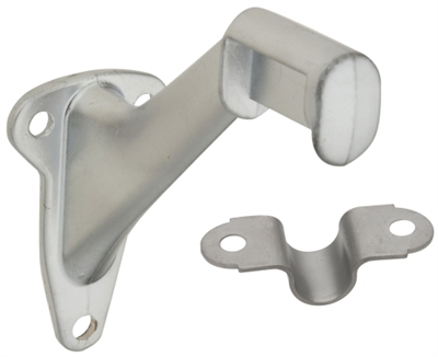 Handrail Bracket, Satin Chrome, 2 Piece
