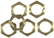 PK 6 BRASS LOCKNUTS THREADED 1