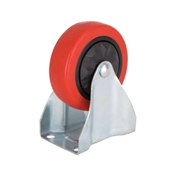 Prosource JC-381-G Rigid Caster, 4 in Dia Wheel, 220 lb Weight Capacity, Polyurethane Wheel