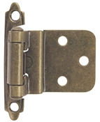 "3/8"" Insert Self-Closing Cabinet Hinge Contractor Pack - Antique Brass"