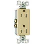 Ivory 15 Amp 125 Volt Decorator Tamper Resistant Receptacle