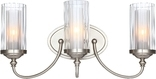 Lexington 3 Light Wall Sconce, Satin Nickel Finish