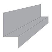 "3/8"" x 10' Z-Bar Flashing Standard Gauge Glazed"