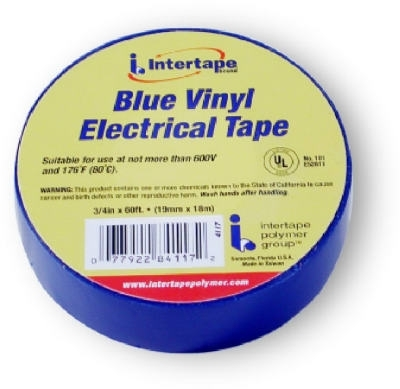 "3/4"" x 60' Electrical Tape - Blue"