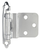 "3/8"" Offset Self-Closing Cabinet Hinge - Chrome"