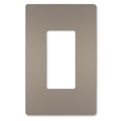 One-Gang Screwless Wall Plate, Nickel