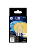 DecorativeLED Light Bulbs, Soft White, Clear, 500 Lumens, 5-Watts, 2-Pk.