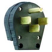 Black 30/50 Amp 125/250 Volt Range Plug