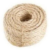 "1/4"" Twisted Sisal Rope 50'"