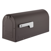 Rubbed Bronze Post Mount Mailbox