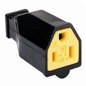 Black 15 Amp 125 Volt 3 Wire Heavy Duty Connector