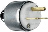 Yellow 15 Amp 125 Volt 3 Wire Armored Plug