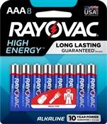 Rayovac 824-8K AAA Batteries, 8 Pack