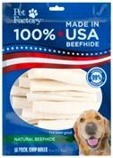 Natural Beefhide Chip Rolls, 18 Pack