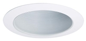 "6"" White Metal Baffle w/ White Trim Ring"