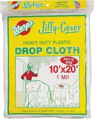10' x 20' Plastic 1 Mil. Drop Cloth