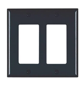 2 Decorator Opening Nylon Wall Plate, Black