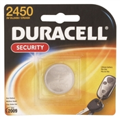 Duracell Coin Cell Battery, 3 V, Cr2450, Lithium/Manganese Dioxide