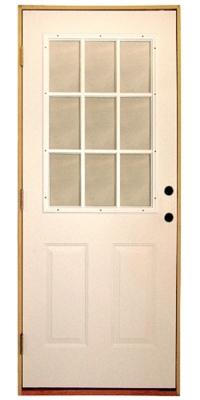 Shop 3068 9 Lite Steel Prehung Double Bored Door Right