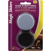 MAGIC SLIDERS 04600 Furniture Slide Glide, 2500 lb Weight Capacity, Polymer-Coated, Plastic, Gray