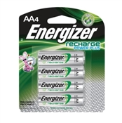 Energizer Nh15Bp-4 Rechargeable Battery, 1.2 V, Aa, Nimh