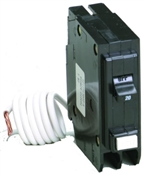20 Amp 1-Pole Type BR Ground Fault Interrupter Circuit Breaker