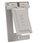 GFCI Vertical Mount Cover - White