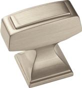 Amerock BP53029G10 Cabinet Knob, 1-3/16 in Projection, Zinc, Satin Nickel
