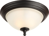 Galveston 2 Light Flush Ceiling Fixture, Black Finish
