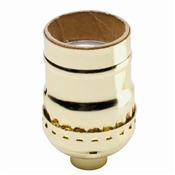 660 Watt Keyless Shell Lamp Socket Brass