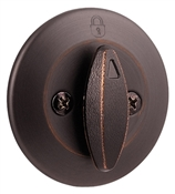 Single Sided Single Cylinder Deadbolt, Venetian Bronze