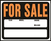 SIGN AUTO/BOAT FOR SALE15X19IN