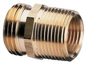 "3/4"" MHT x 3/4"" MPT - 1/2 FPT Brass Adapter"