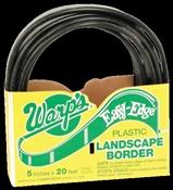 Easy Edge Lbs-520-B Landscape Border, 5 In H X 20 Ft L, Polyethylene, Black