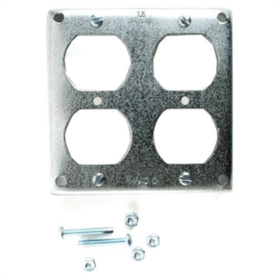 "4"" Double Duplex Square Outlet Cover"